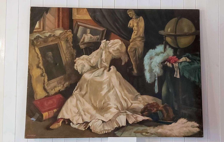 Large Oil on Canvas Joanne Pemberton-Longman