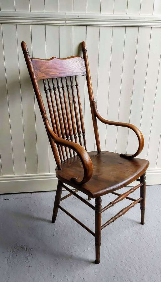 Late 19th century spindleback armchair