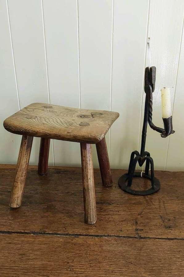 19th century elm milking stool