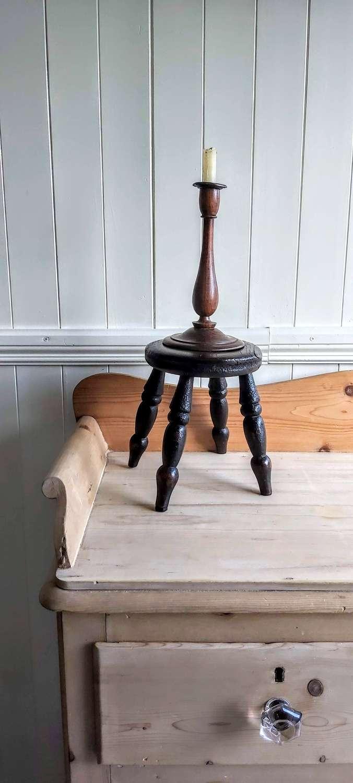19th century elm candle stool