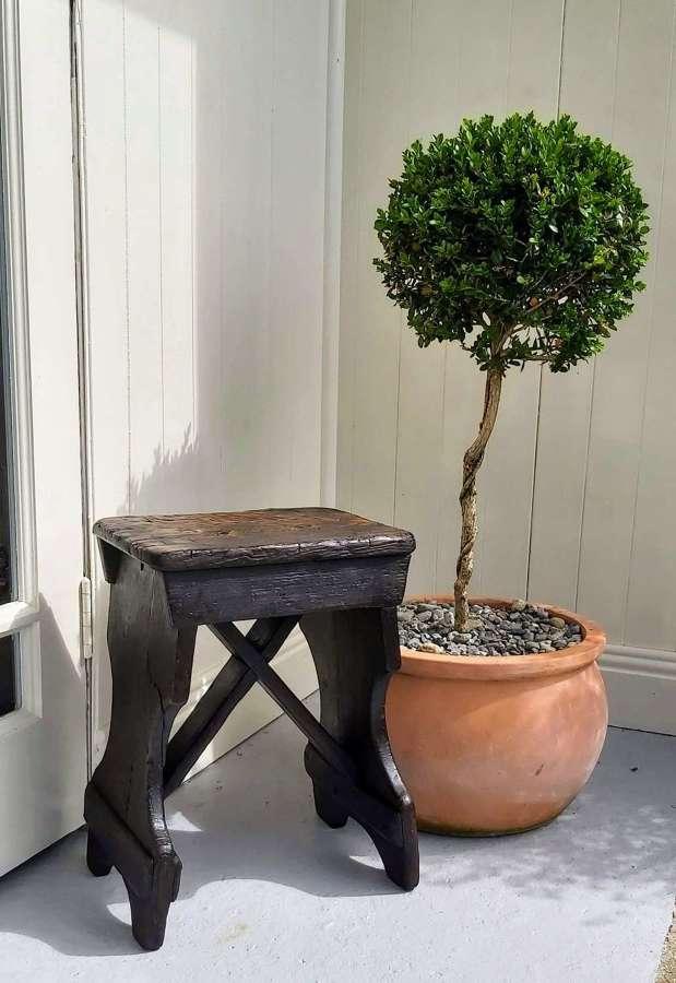 19th century vernacular x frame stool