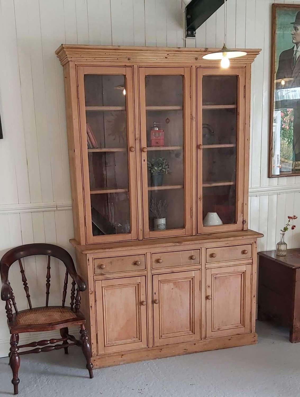 19th century glazed pine Dresser