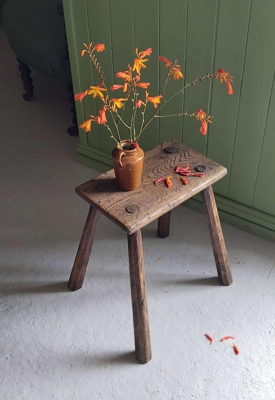 19th century Irish ash stool