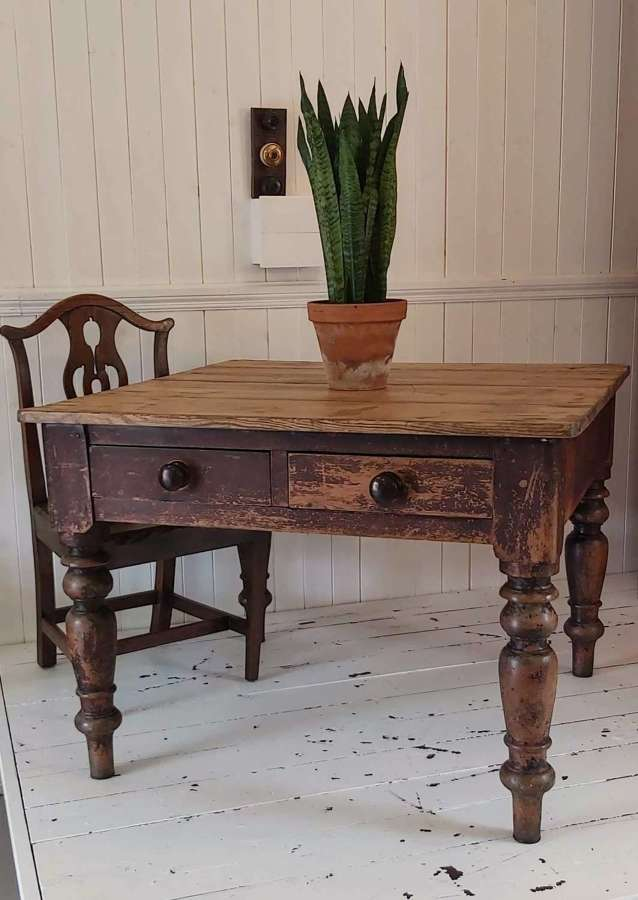 19th century pine farmhouse table