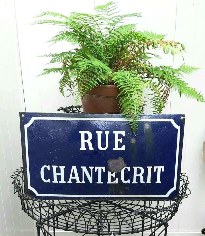 Antique French enamel road sign